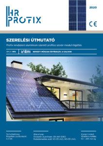 Profix rendszerű aluminium szerelő profilos szolar-modul rögzítés